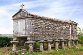 The Ancient Horreo (granary). Galicia, Spain