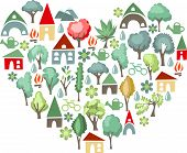 Heart made of trees. I love countryside