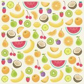 Seamless background of food