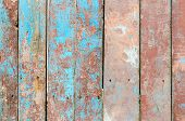 Fragment Of A Wooden Fence With Cracked Paint