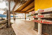 Beach Bar At Bussaglia Beach In Corsica