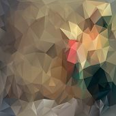 Vector Polygonal Background Pattern - Triangular Design In Vintage Colo