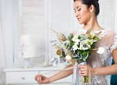 Unusual Wedding Bouquet At Hands Of A Bride