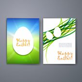 Templates. Set of Flyer, Brochure Design Templates. Easter invitation flyer.