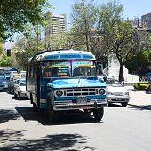 Old Dodge Bus in La Paz, Bolivia