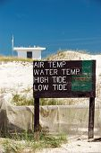 Beach Weather Conditions Sign
