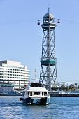 Cable Car Tower In Barcelona PortÂ