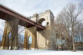 A bridge in the park