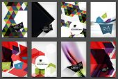 Set of A4 Flyers. Abstract Backgrounds