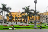 Plaza De Armas (plaza Mayor) Of Lima, Peru