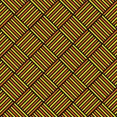 Abstract Geometric Seamless Pattern. Colorful Lines Over Black Background.