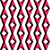 Seamless Rhombus Background. Vector Red and Black Texture