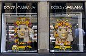 Dolce E Gabbana Window In Milan