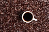 Coffee bean and Coffee Cup