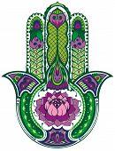 picture of hamsa  - Decorative ornamental symbol - JPG