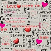 background to the Valentines Day in vintage style. Set 4. Vector