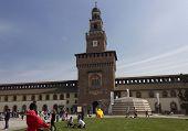 Milan Sforza Castle Indoor Facade