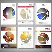 Abstract colored background, triangle design. Brochure, flyer or report for business, template vecto