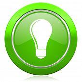 bulb icon idea sign