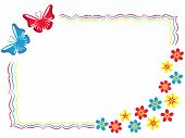 Valentine Greeting Card With Butterflies