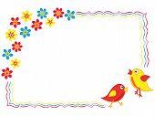 Valentine Greeting Card With Birds