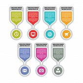 Infographic vector concept illustration with icons in flat style colors. Design elements.