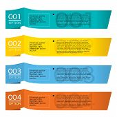 Set of Colorful Horizontal Paper Banners.