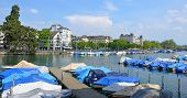 River Limmat in Zurich, Switzerland