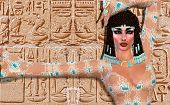 Cleopatra! Our modern digital art Egyptian fantasy version.