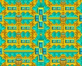 Gold and turquoise modern colorful background with original pattern