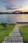 Sunrise Behind Sydney Harbour Bridge From Balmain