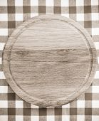 napkin and cutting board as background texture
