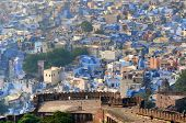Mehrangarh Fort Overlooking The Famous Blue City In Jodhpur