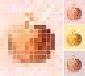 Pastel Colored Apples Mosaic Background