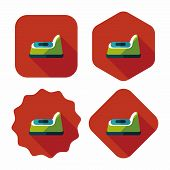 Baby Potty Flat Icon With Long Shadow,eps10