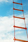 Rope Ladder Against A Blue Sky