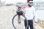 Bearded Man With Bike