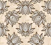 Seamless Pattern Lotus