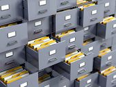 picture of file folders  - File cabinet - JPG