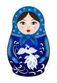 stock photo of doll  - Russian traditional wooden doll Matryoshka - JPG