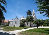 Church Made ??of Seashells In La Toja, Galicia, Spain