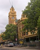 Melbourne, Australia - January 15, 2015: Building The Railway St