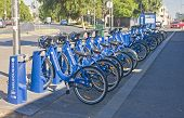 Melbourne, Australia - January 12, 2015: City Bikes For Rent On