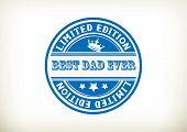 Best Dad- Stamp