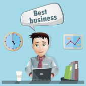 Men in office tell about best business