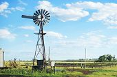 image of windmills  - Windmill in the outback of Brisbane - JPG