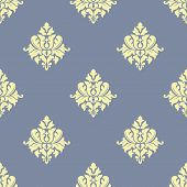 Sparse pattern of seamless victorian styled floral background