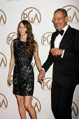 LOS ANGELES - JAN 24:  Emilie Livingston, Jeff Goldblum at the Producers Guild of America Awards 2015 at a Century Plaza Hotel on January 24, 2015 in Century City, CA