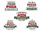 Italian pizza restaurant logo design elements