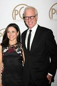 LOS ANGELES - JAN 24:  Julia Louis-Dreyfus, Brad Hall at the Producers Guild of America Awards 2015 at a Century Plaza Hotel on January 24, 2015 in Century City, CA